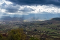 Clouds over the town of Drvar in BiH. View from our ascent to Velika Klekovaca.