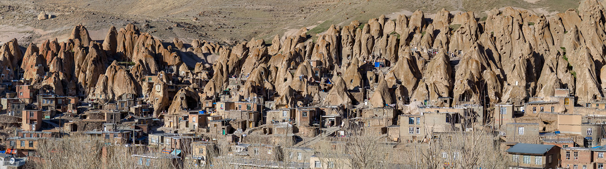 The panorama of the Kandovan village.