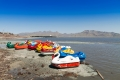 The boats at Lake Urmia are proof that locals come to enjoy the water in the warm months.
