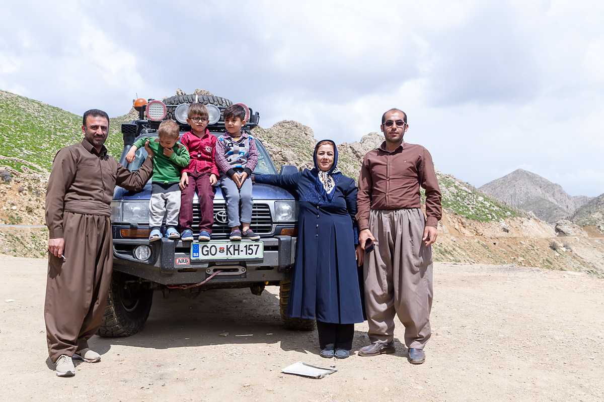 A Kurdish family we met just above the Hawraman valley. We had a good laugh in spite of language barrier.