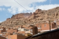 A part od Abyaneh village with ruins of the fortress on top of the overlooking hill. Exquisite planning of electric cable lines adorns the village an uniquely charming way... same as many other villages from Kandovan on...