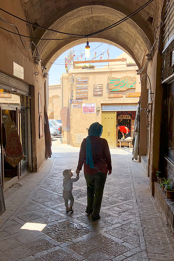 Strolling the covered streets of Yazd. The shade was quite welcome, it was way over 30 deg Celsius.