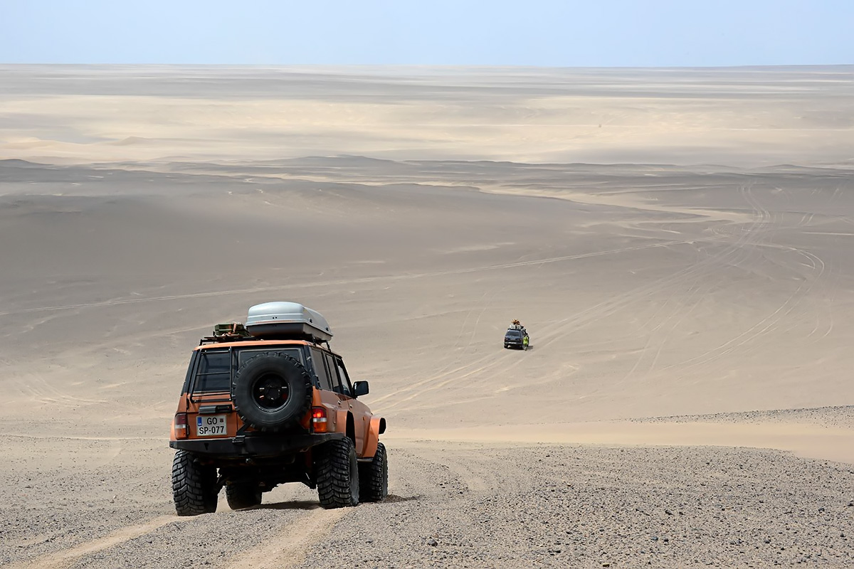 On the way back west, across the central plain of Dasht-e Lut desert. Photo LoneWolf