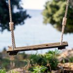 The swing in the bay on island Pag, Croatia