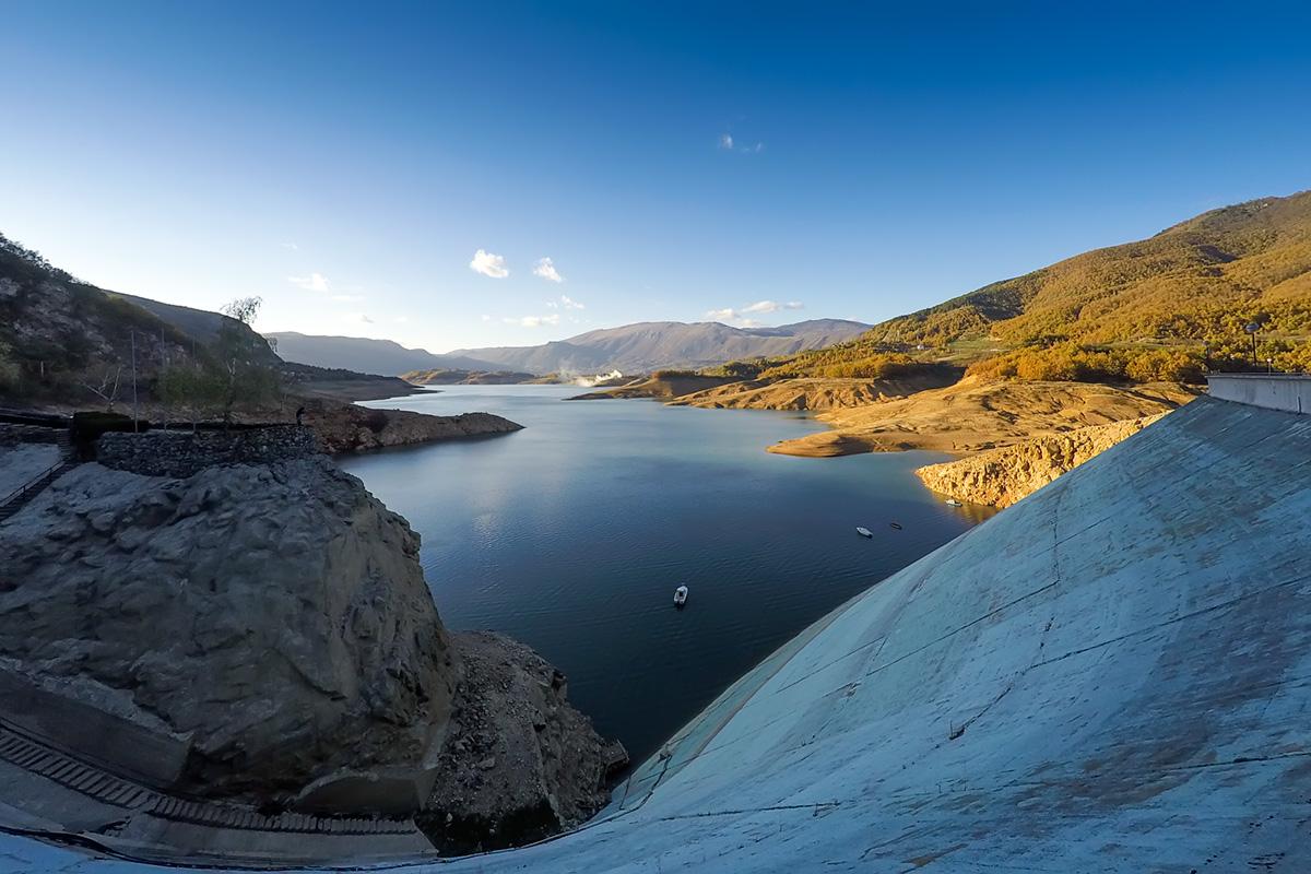 The dam at Ramsko Lake, BiH