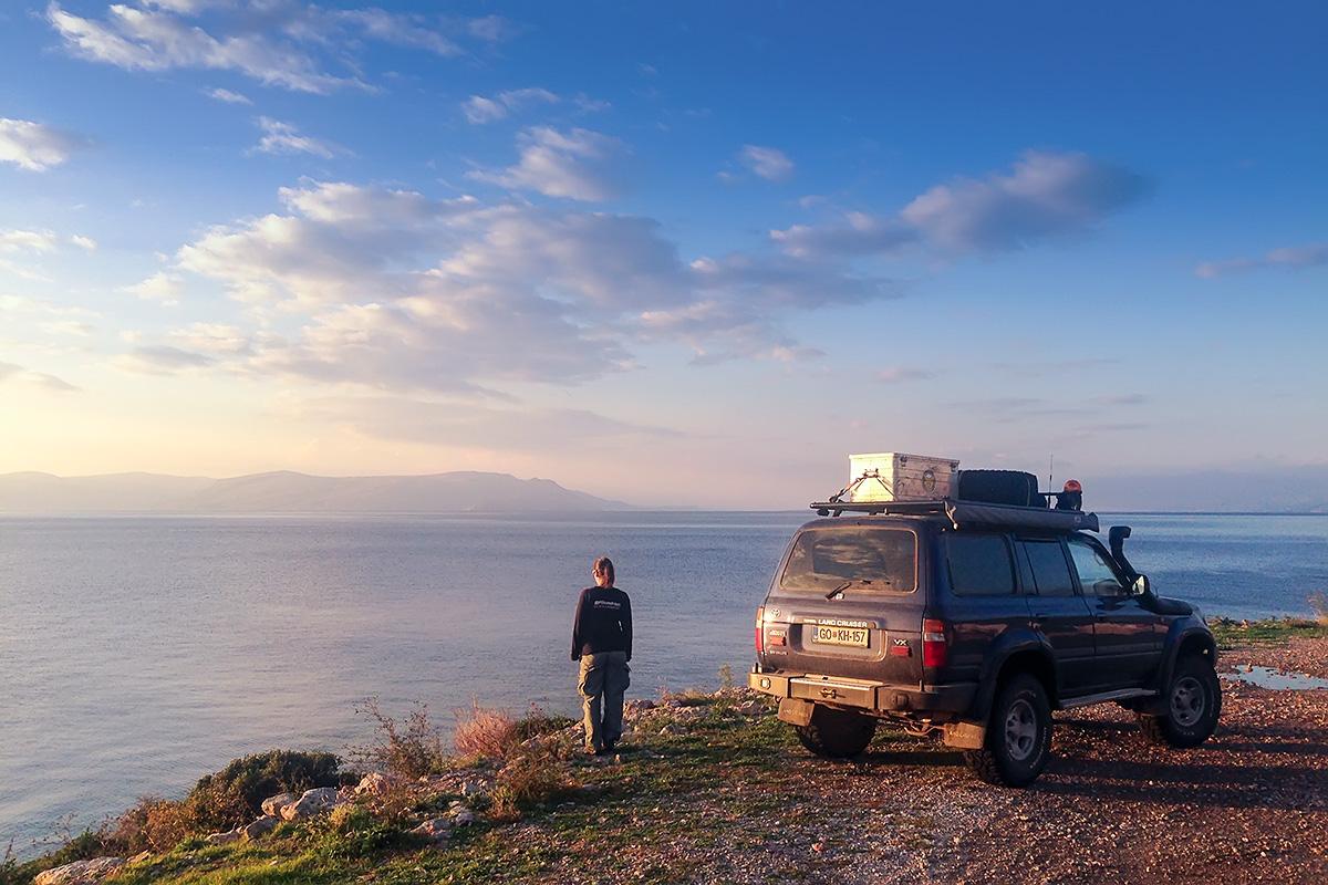 The last sunset of this trip on Adriatic Highhway (Jadranska magistrala) somewhere before Senj