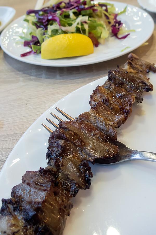 The best kebab in Turkey. Goat meat.