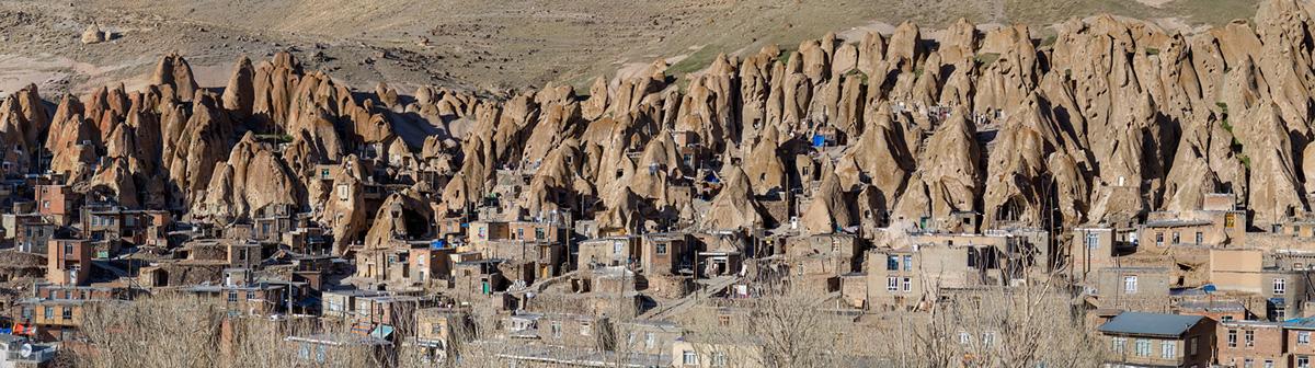 The panorama of the Kandovan village.
