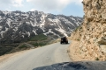 The road on top of the pass goes down to Hawraman valley, but on the snowy slopes you can see the new road between Marivan and Paveh. It climbs to about 2.700 m ASL.
