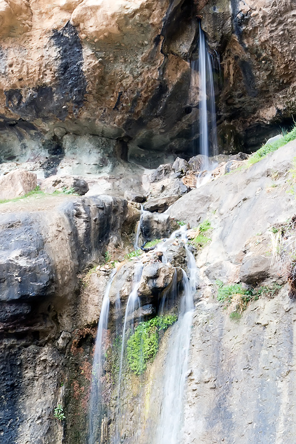 A detail of the waterfall. Regardless of the rain in the past days there wasn't much water.
