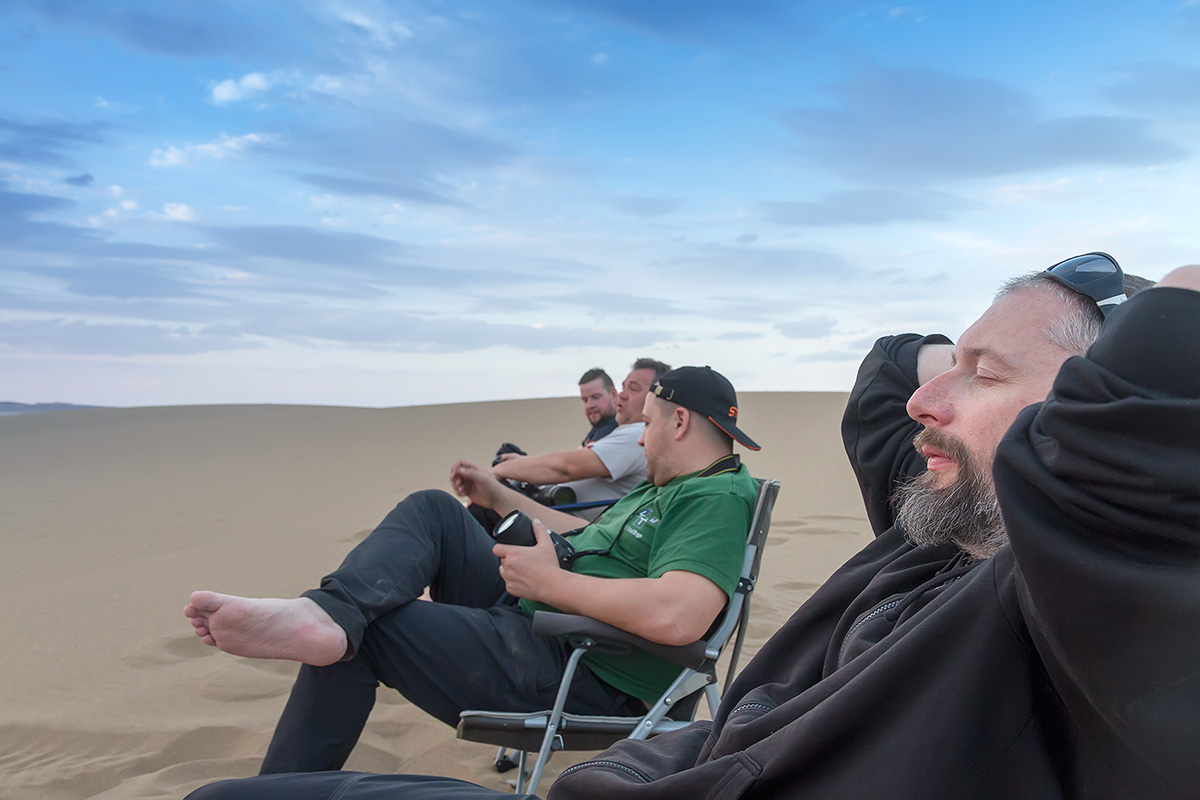 A moment of pure relaxation only a desert can bring.