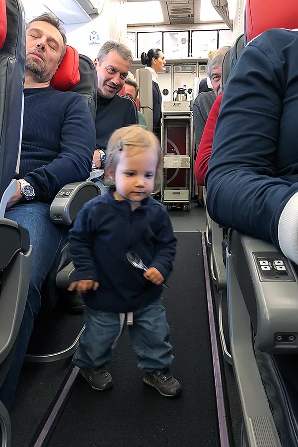 Kea Pika first time on the aeroplane