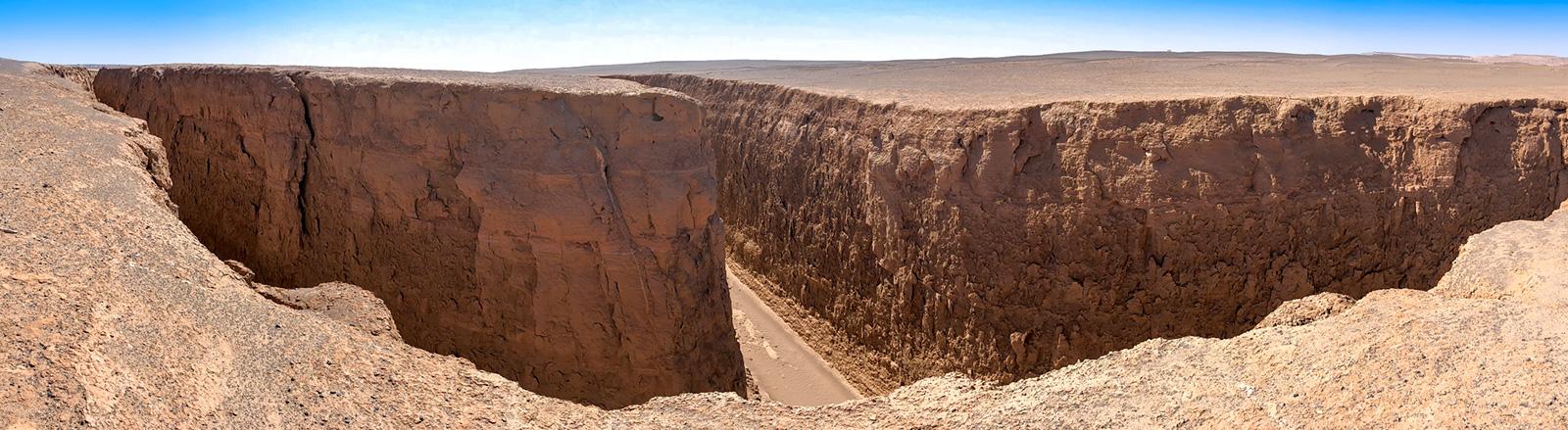 The confluence  or the division of Zaban-e Mar, Snake Tongue Canyon