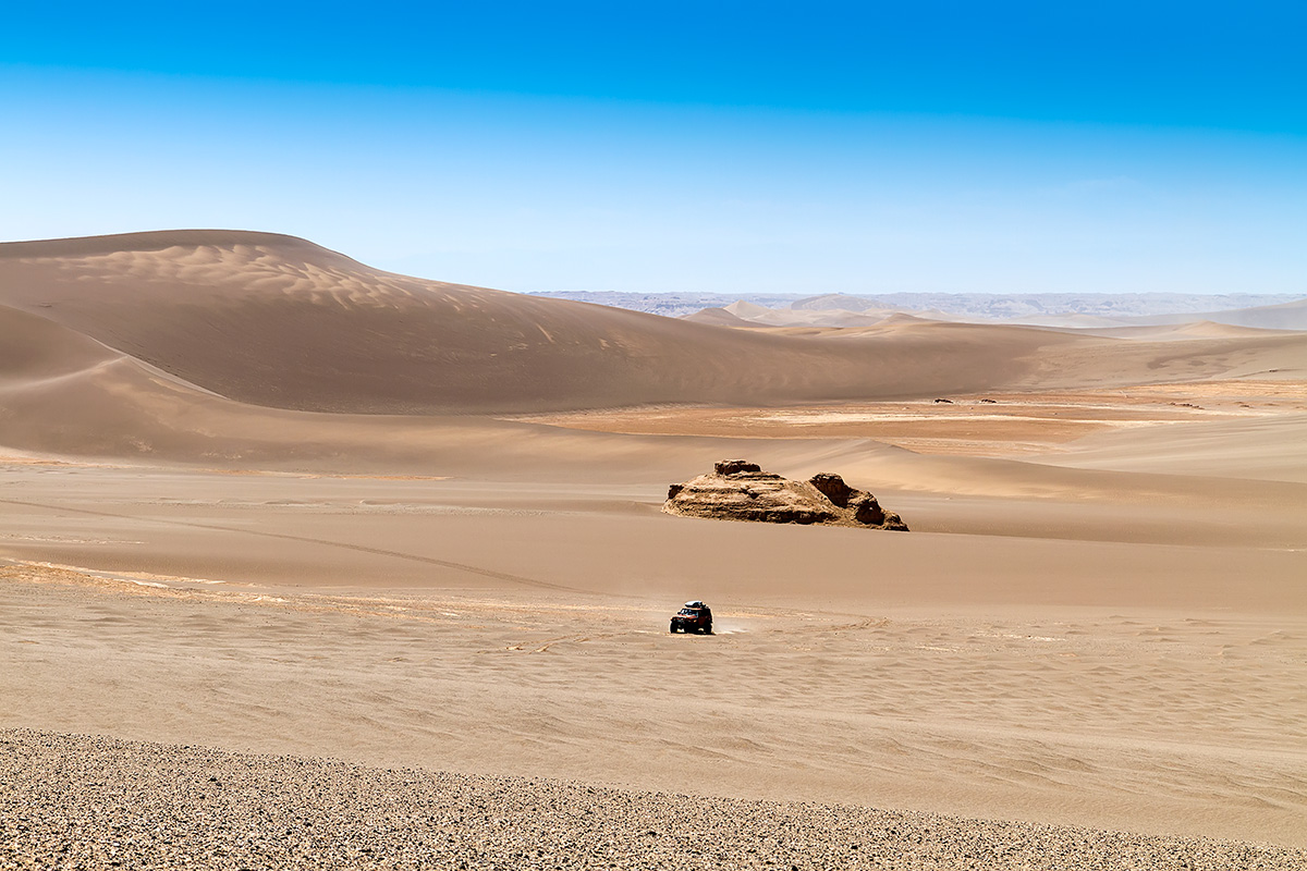 Mosafer among star-shaped dunes