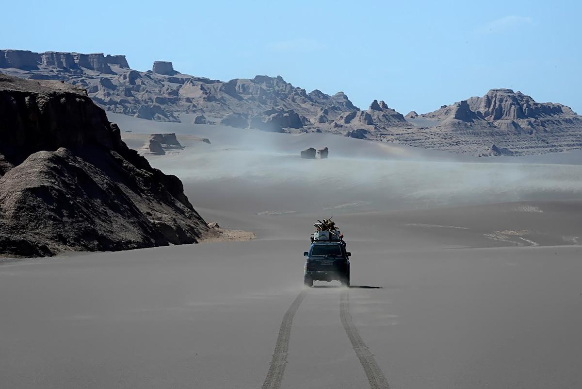 In the canyon, speeding north towards Zaban-e Mar, Snake Tongue Canyon. Photo LoneWolf