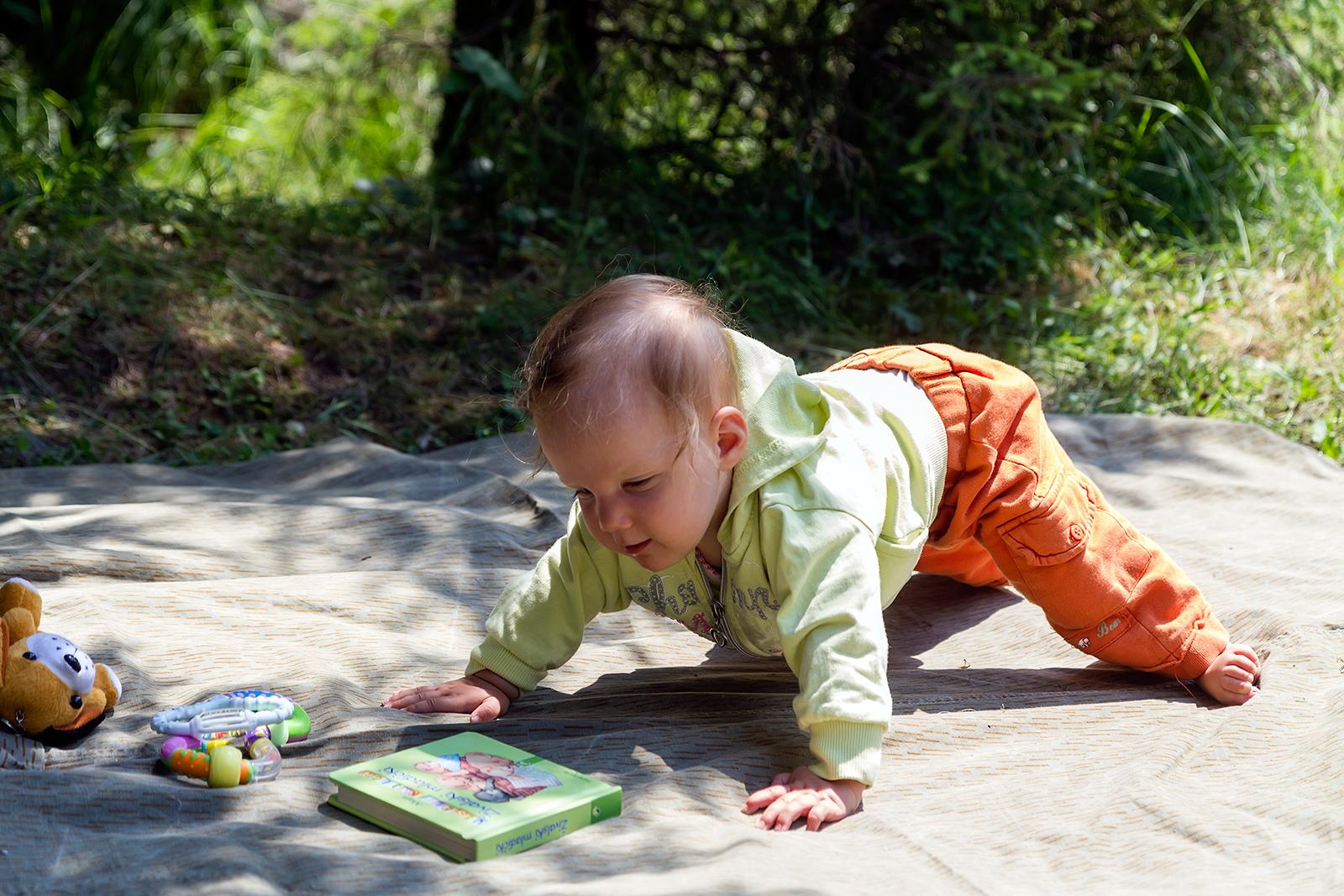 First attempts at crawling. Cheile Jietului near Petrosani, Romania.