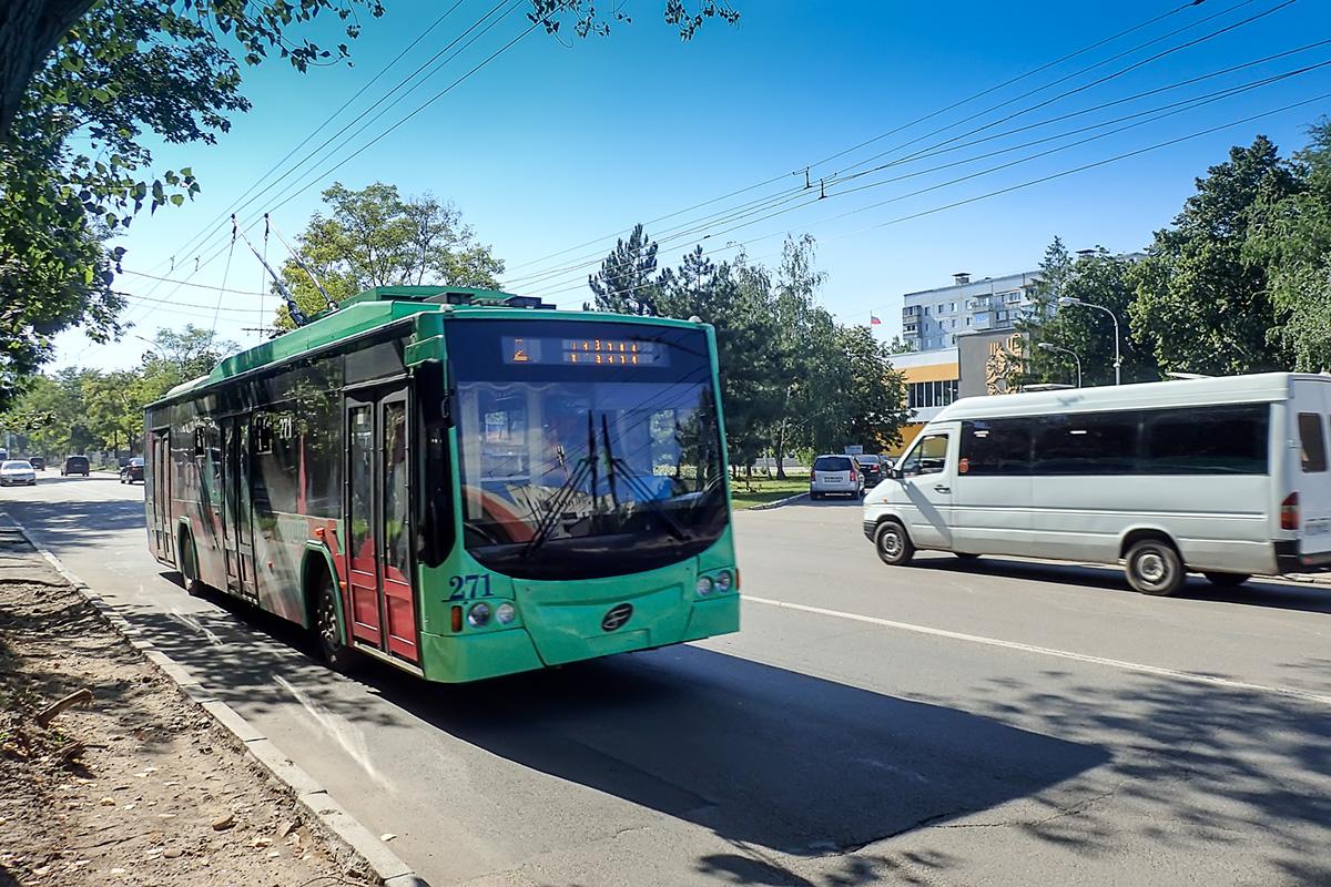 Transnistrski električni avtobus v Tiraspolu